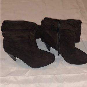 Mid Calf Heeled Booties